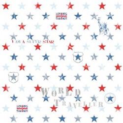 Stars White Wallpaper