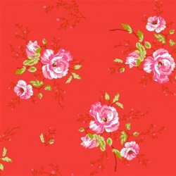 Winter Poppies Red Floral Wallpaper. Pink ...