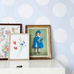 Dots Blue Reverse Wallpaper