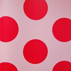 Dots Red On Pale Pink Wallpaper