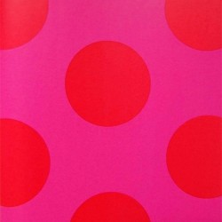 Dots Red on Pink Wallpaper