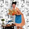 50s Housewives Half-Scale Wallpaper