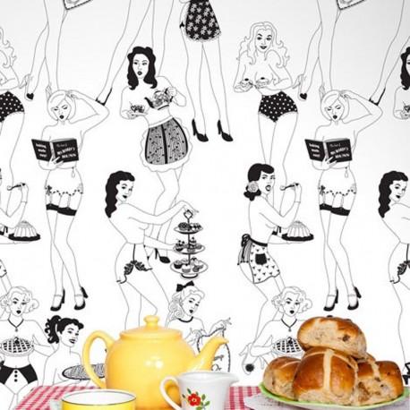 Time For Tea Half-Scale Wallpaper
