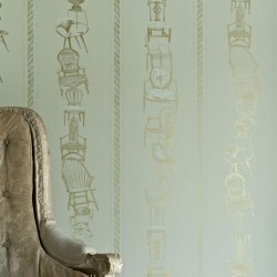 Chairs Eau De Nil Wallpaper