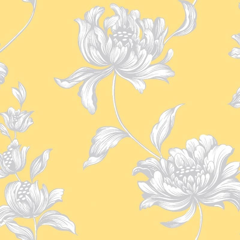 vanessa yellow wallpaper bloomsbury wallpaper yellow wallpaper