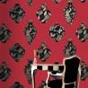 Bedford Square Cinnibar Scarlet Wallpaper