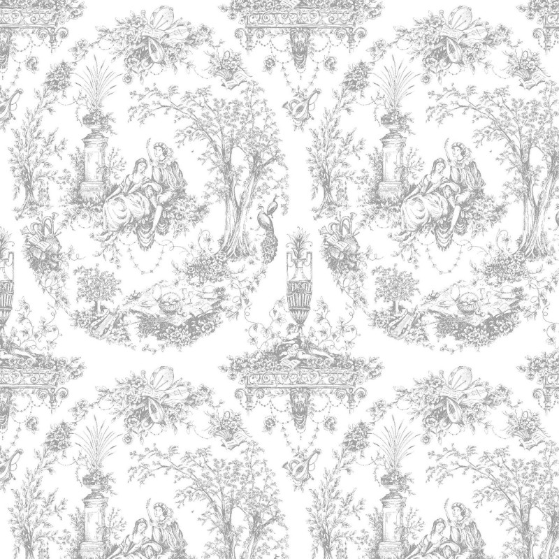 Crystalline Silvers: Arcadia Silver & White Wallpaper, Wallpaper Store, Direct