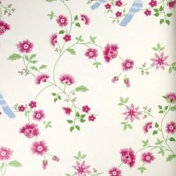 Bird Branches White Wallpaper