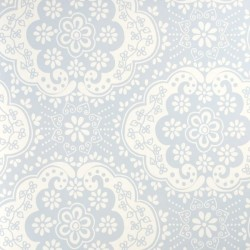 Dentelle Sky Blue Wallpaper