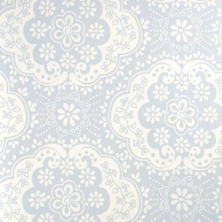 Dentelle Sky Blue Wallpaper