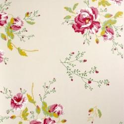 Winter Poppies Ivory Wallpaper
