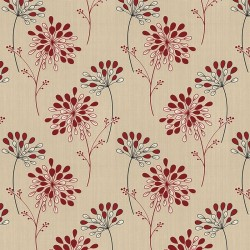Burst Red & Beige Wallpaper
