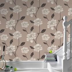 Peony Beige & Cream Wallpaper
