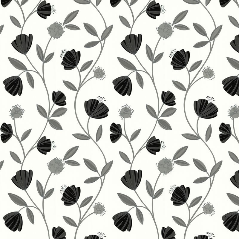 Capri Grey White Wallpaper