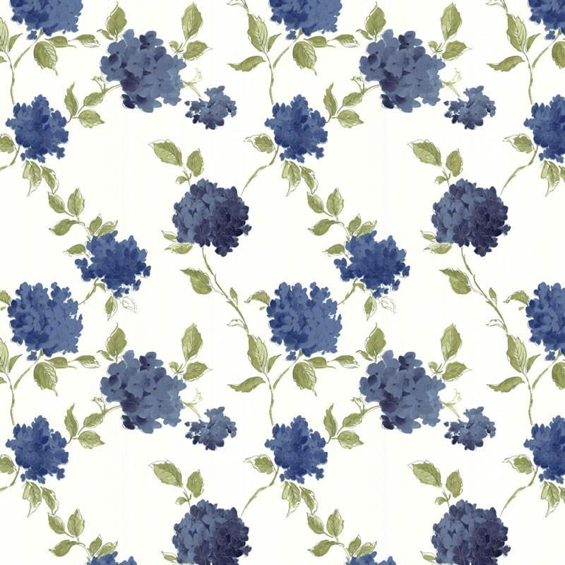 Amelia Blue Cream Wallpaper