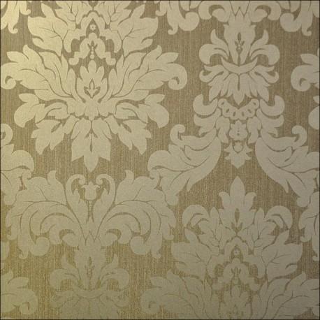 Versalles Gold Coffee Wallpaper