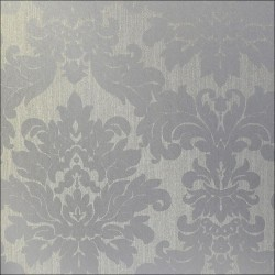 Versalles Silver Alu Damask Wallpaper