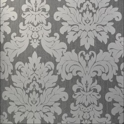 Versalles Silver Grey Damask Wallpaper
