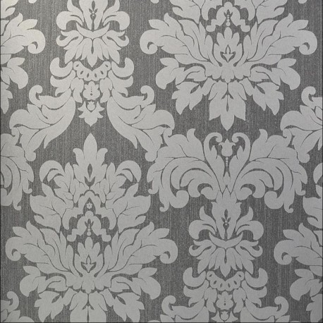 Versalles Silver Grey Wallpaper