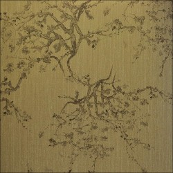 Kyoto Grey Bronze Wallpaper