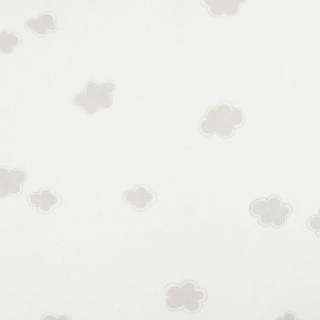 Nuages Clouds Taupe Grey Wallpaper
