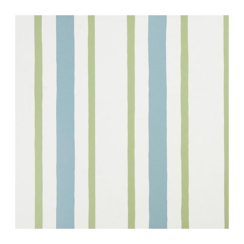 Cherokee Green Stripes Wallpaper