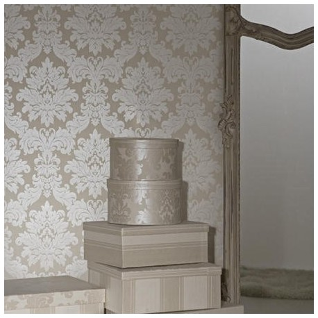 Versalles Silver Ivory Wallpaper