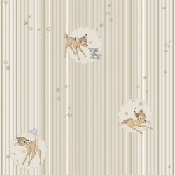 Bambi Beige Wallpaper