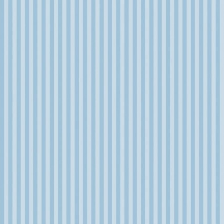 Classic Stripe - Vintage Blue Wallpaper