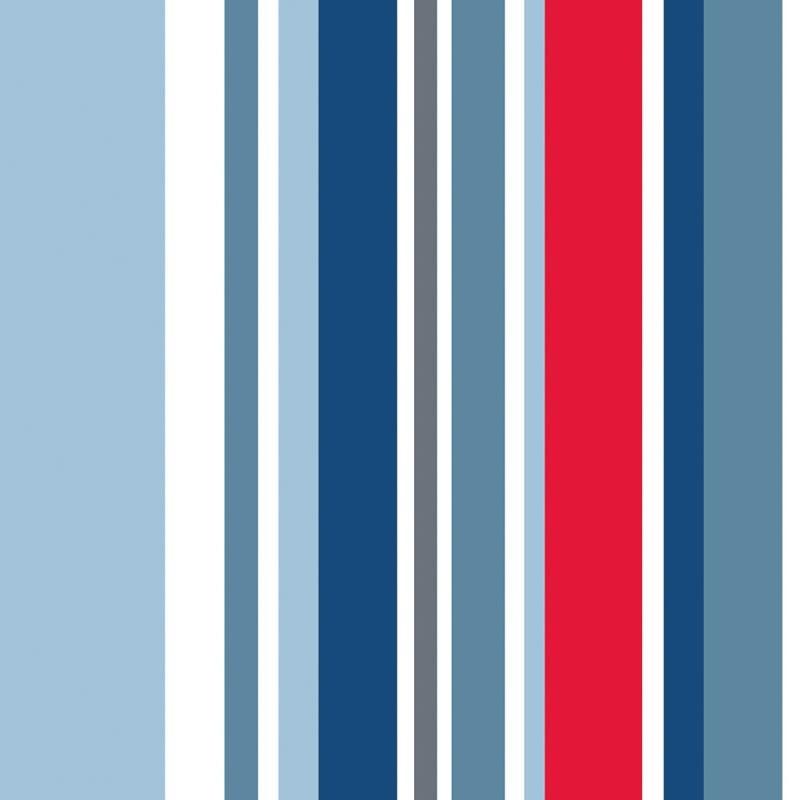 Blue Striped Wallpaper Long Island Stripe Wallpaper Blue