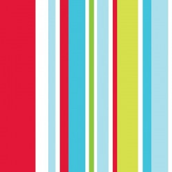 Long Island Stripe Red Wallpaper