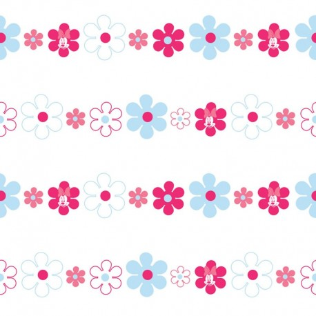 Minnie Bows Daisies Pink Wallpaper