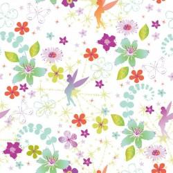 Tinkerbell Retro Green Wallpaper