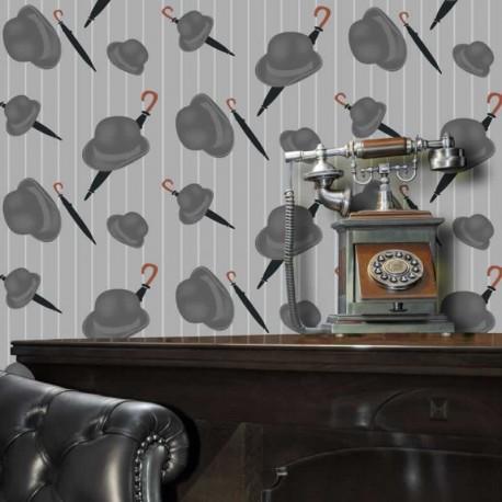 Bowler Light Grey Wallpaper