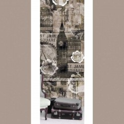 Big Ben Brown Wall Mural