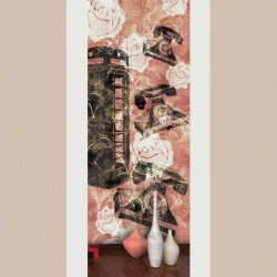 Telephone Line Peachy Wall Mural