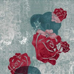 Edward Bowler Rose Red Wall Mural