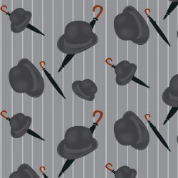 Bowler Dark Grey Wallpaper