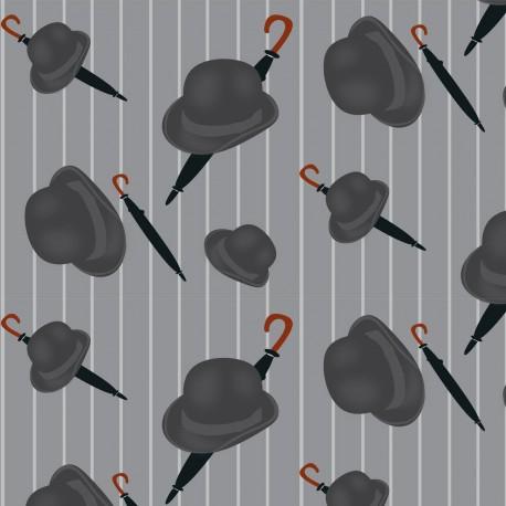 Bowler Dark Grey Wallpaper