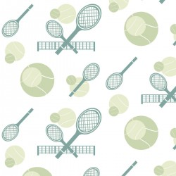 Tennis Light Green Wallpaper