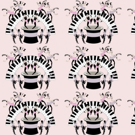 Jazz Age Pink Wallpaper