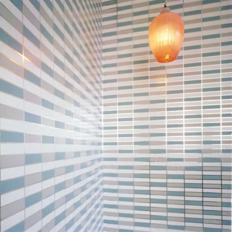 Soda Metallic Silver & Aqua Wallpaper