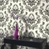 Bijoux Black & Pale Cream Wallpaper
