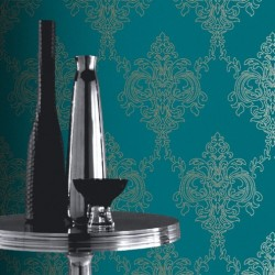 Ravelle Petrol Blue Wallpaper