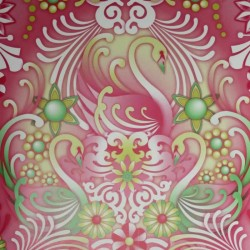 Swans Fresa Wallpaper