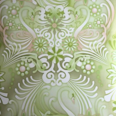 Swans Oro Wallpaper