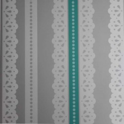 Lace Aqua Wallpaper