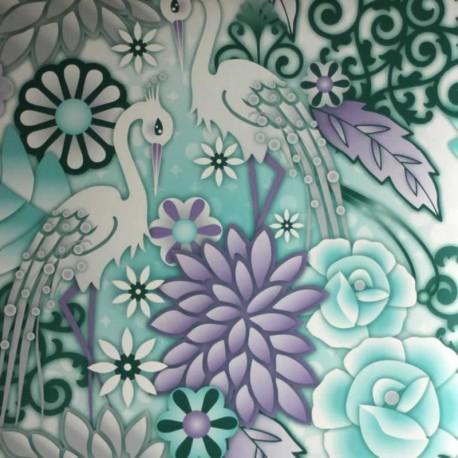 Heron Aqua Wallpaper