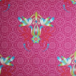 Tweet Bird Fuchsia Pink Funky Wallpaper