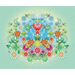 Heart Flowers Mural